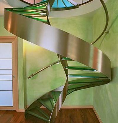 Комбинированные лестницы в интерьере