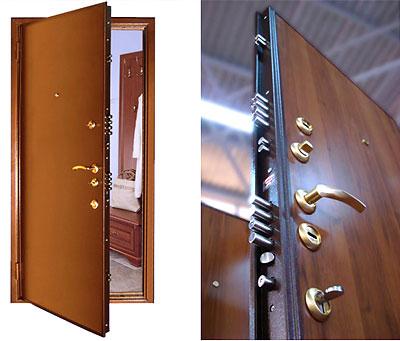 Внешний вид входной двери из стали