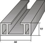 Обрешетка (рейка) ПВХ для монтажа стеновых панелей ПВХ