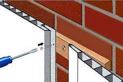 Стеновые панелеи ПВХ крепятся саморезами
