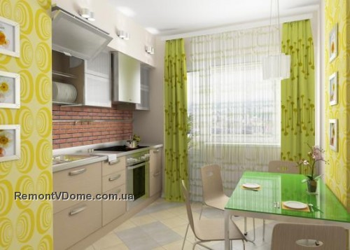 Дизайн для кухни если стены салатового цвета с фото